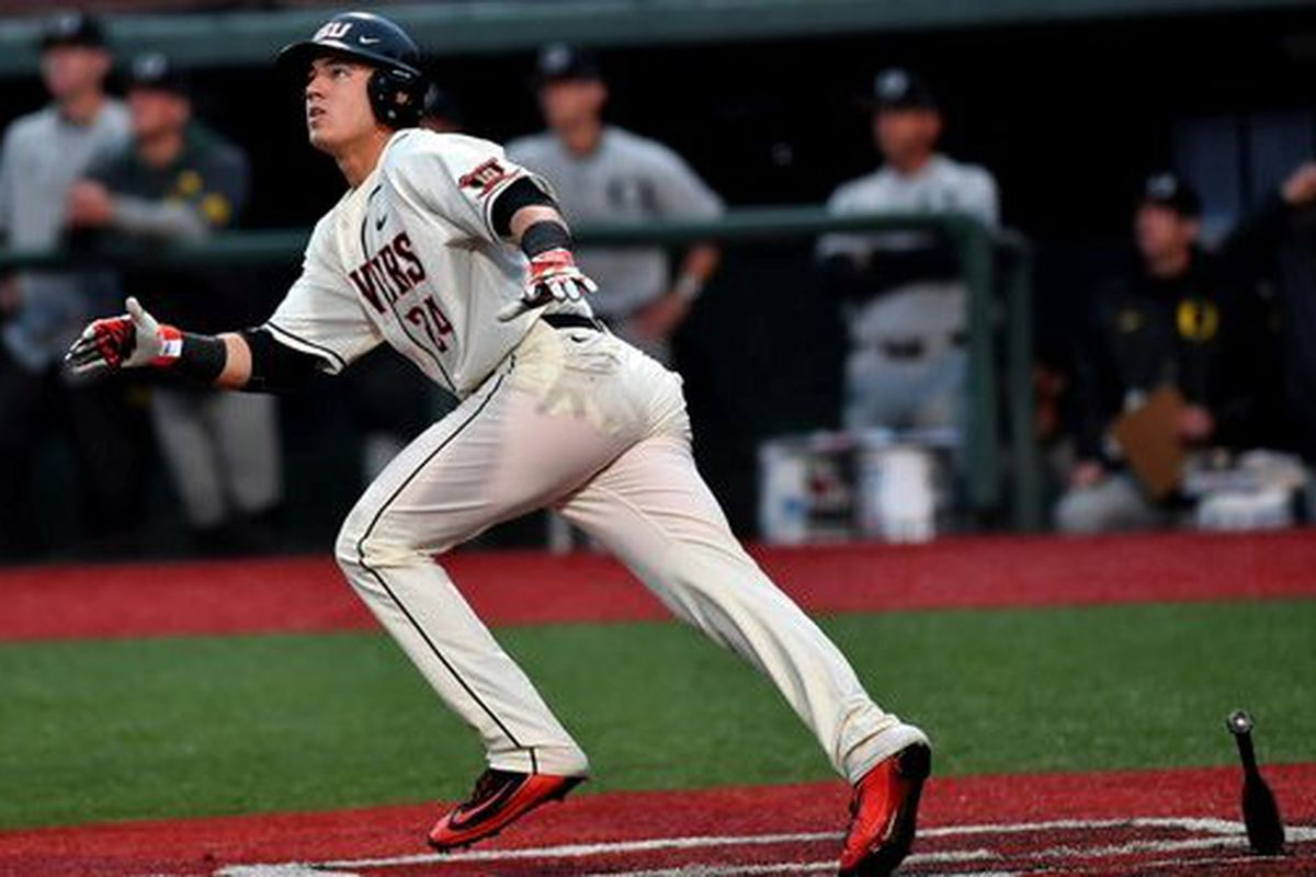 KJ Harrison connected for a go-ahead home run against Oregon to square the Civil War series.