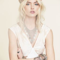 Flower chainmail and coin collar, $88