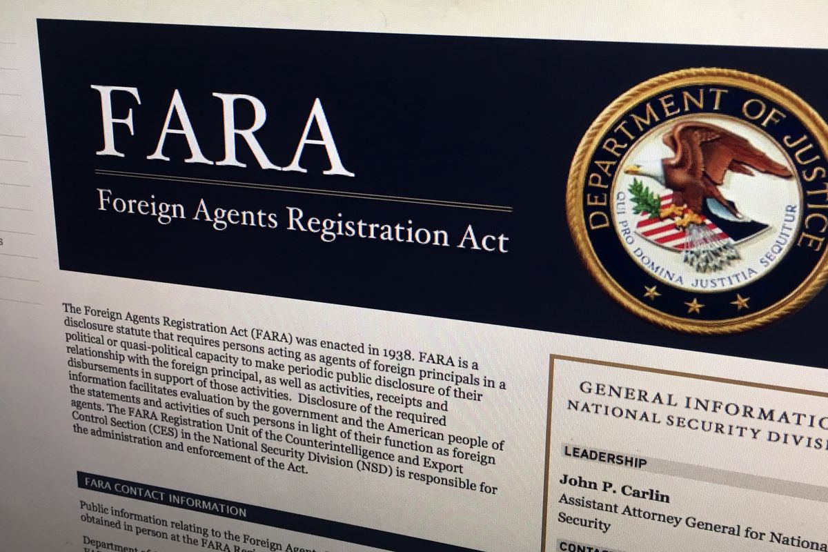 Foreign Agent Registration Act website