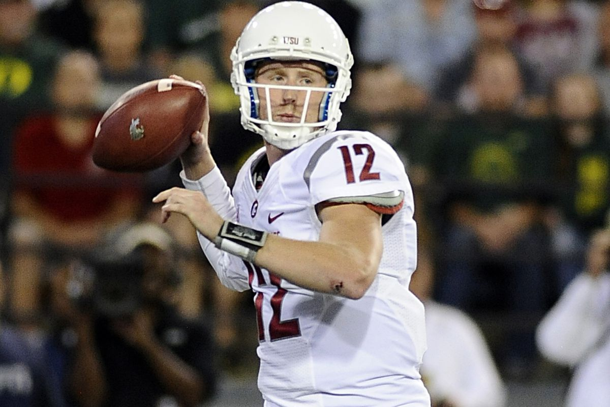 Connor Halliday got the Cougars close, but couldn't get the Red Auerbach victory cigar against Oregon