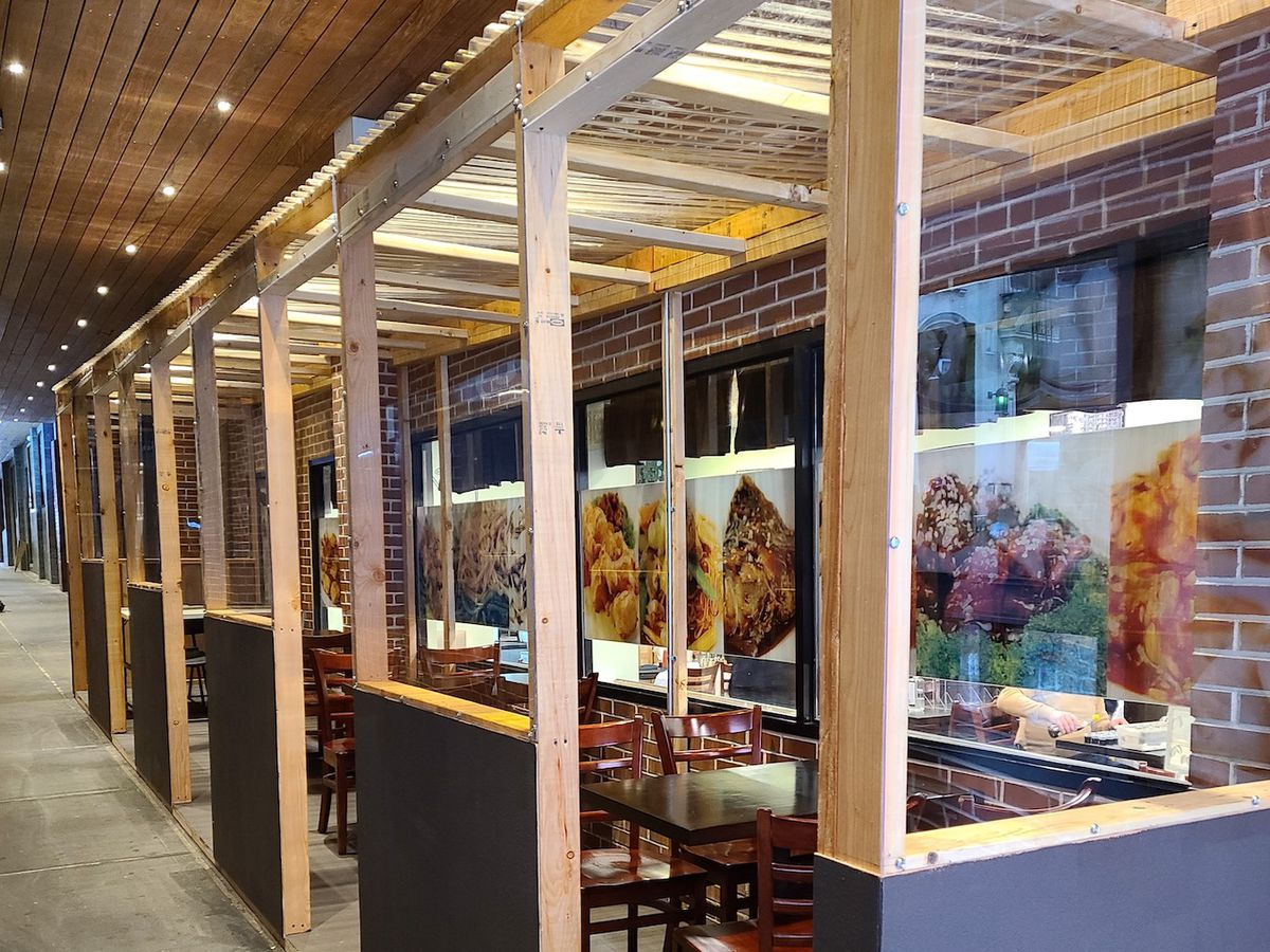 The outdoor dining setup for Chinese restaurant Shanghai Asian Cuisine