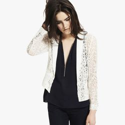 """<strong>The Kooples</strong> Fine Lace Jacket, about <a href=""""http://www.thekooples.com/en/woman/jacket/fine-lace-jacket-1.html"""">$170</a> (was $335)"""