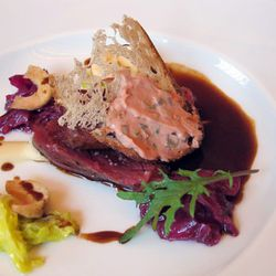 """Wagyu Beef Tongue from M. Wells by <a href=""""http://www.flickr.com/photos/naftels/6057189972/in/pool-eater/"""">naftels</a>."""