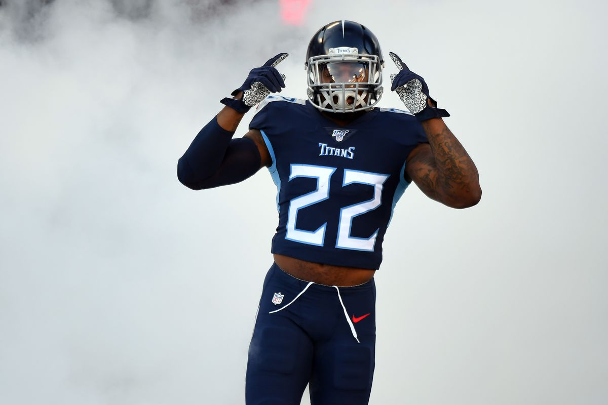 Derrick Henry Runs Over Jaguars Titans Rb Scores Two Tds In 20 Seconds Dominates Jaguars Again Draftkings Nation