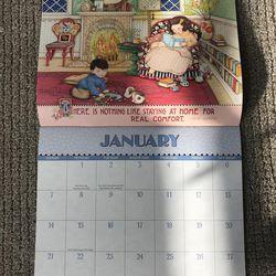 Carmen Herbert's 2018 Mary Engelbreit calendar. She has received an Engelbreit calendar each year for years