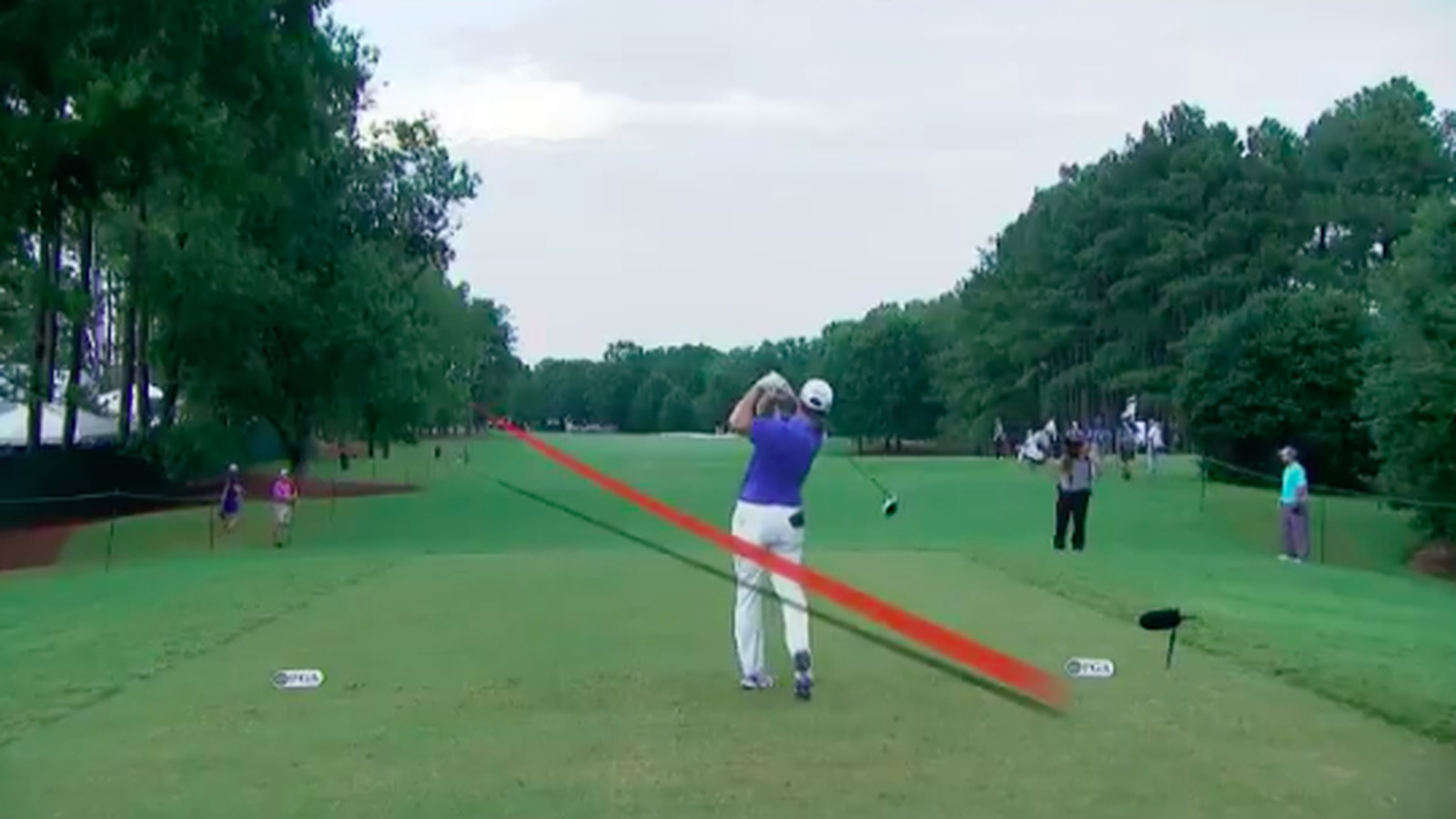 why did a pga tour pro intentionally shank a shot with a