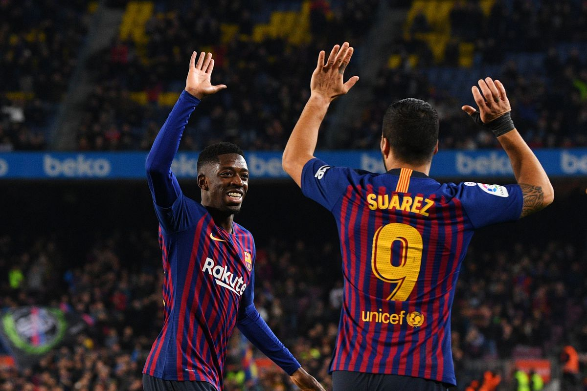 Image result for suarez and dembele