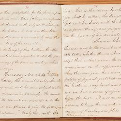An excerpt from the minutes of the Council of Fifty, recorded by William Clayton from March 1844 until January 1846.