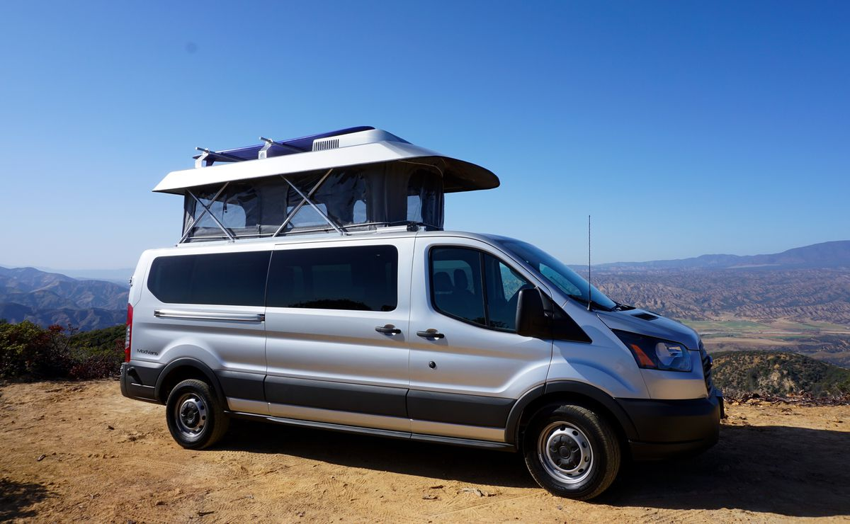 California-based ModVans builds a camper with seating for five and removable RV components.