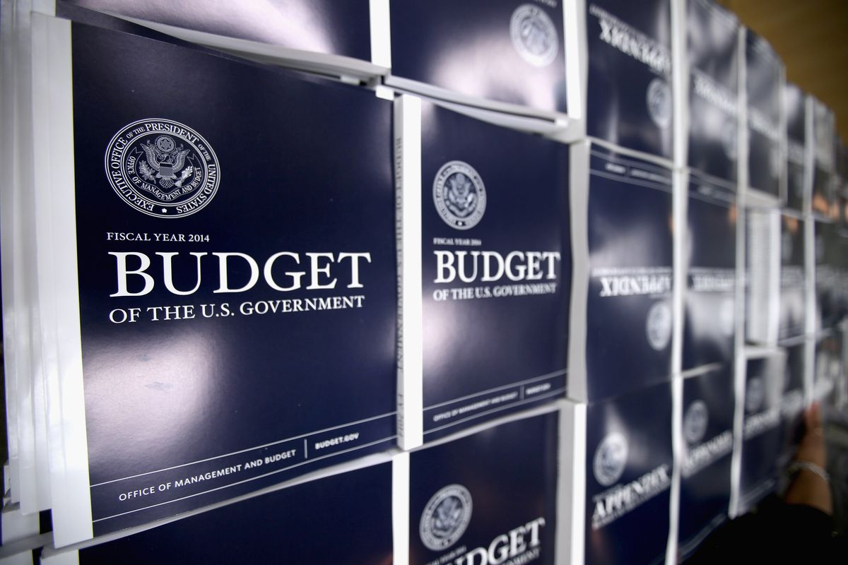 """We're visualizing the budget by using a photo taken of paper on which the word """"BUDGET"""" is written."""