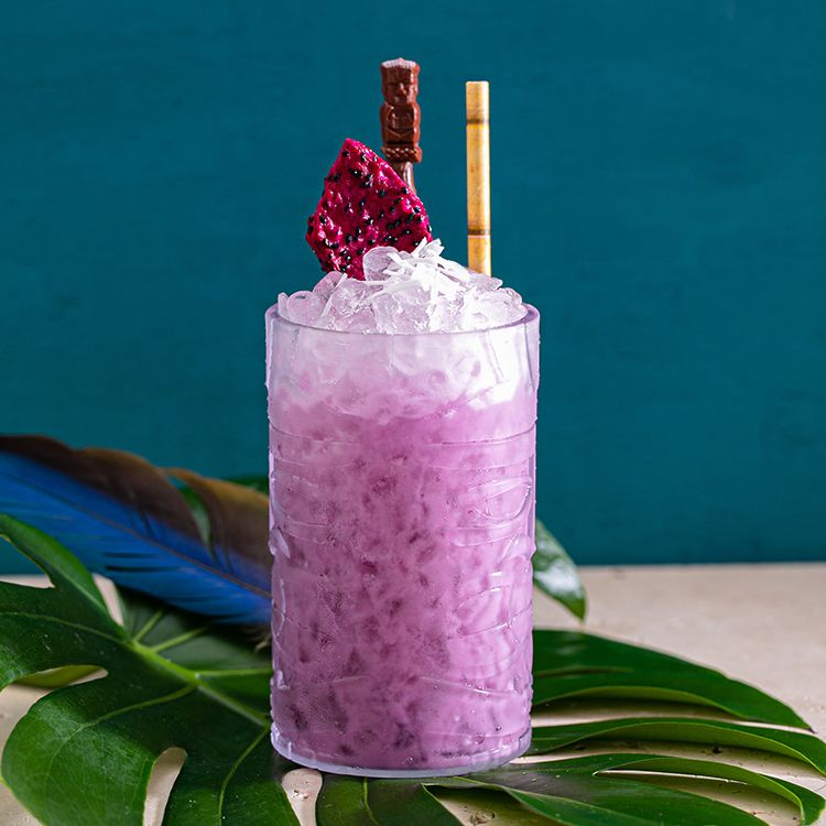 A funky Polynesian cocktail from Los Parrot Tiki Pop-Up in Los Angeles