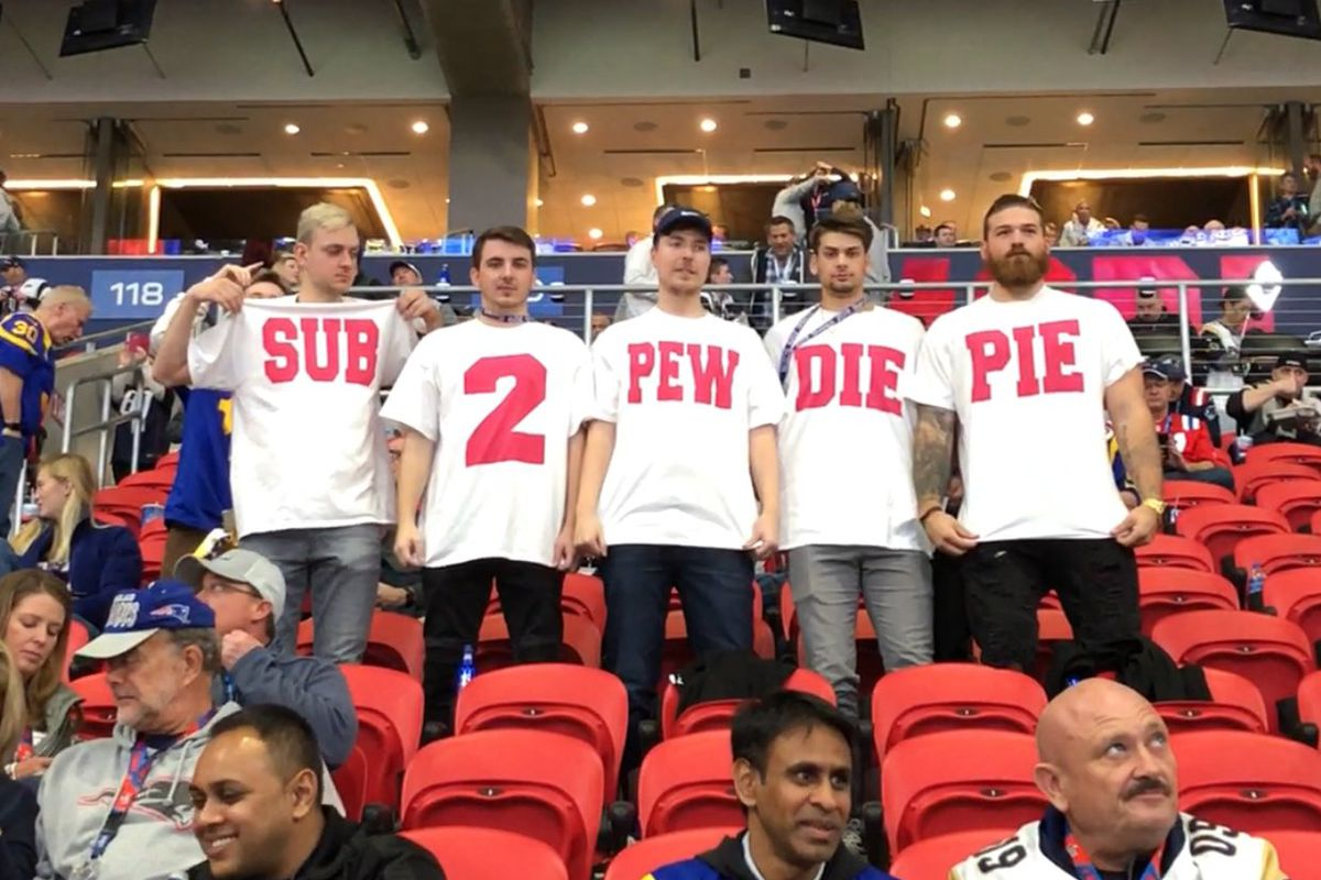 Subscribe to PewDiePie' campaign hits the Super Bowl - The Verge