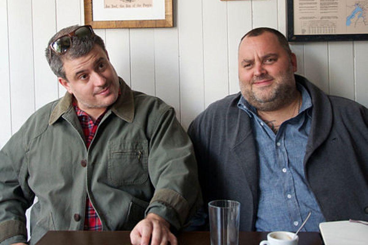 <strong>Joe Beef's</strong> Frédéric Morin and David MacMillan made Terroir feel like a comedy club.