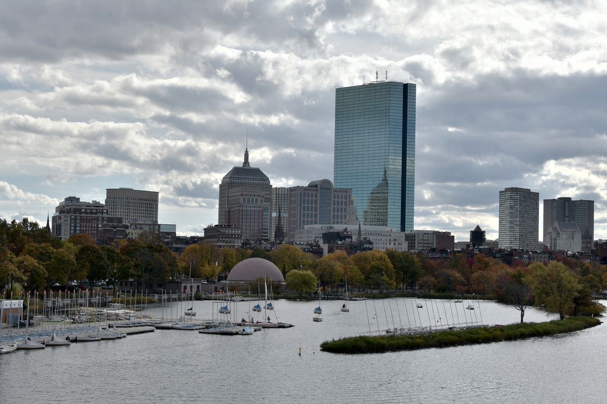 A general view of the Boston skyline is seen on October 26, 2019 in Boston, Massachusetts.