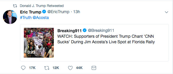 Screen_Shot_2018_08_01_at_10.11.04_AM Trump approvingly tweets video of his rally crowd harassing a journalist