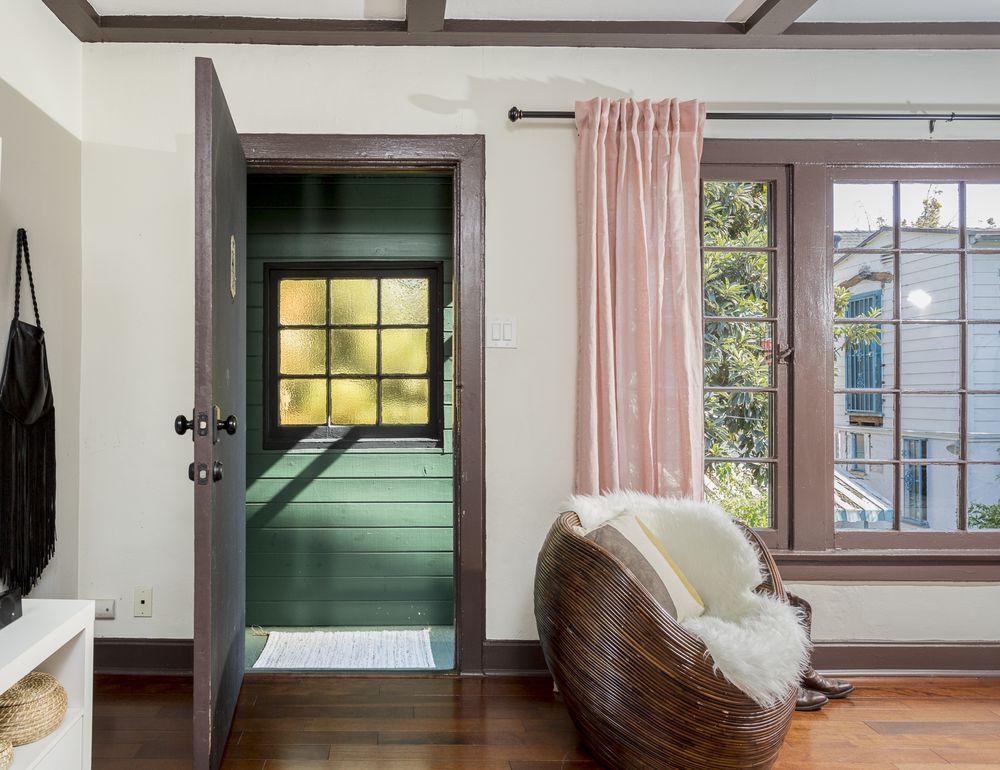 Door open next to window