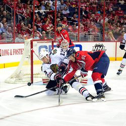 Brookbank and Beagle Reach For Puck