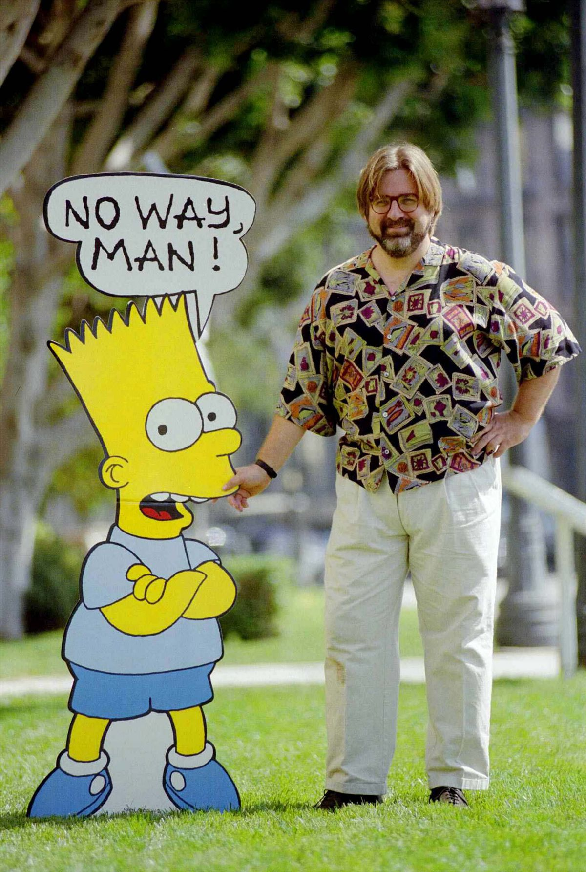 Matt Groening and Bart Simpson