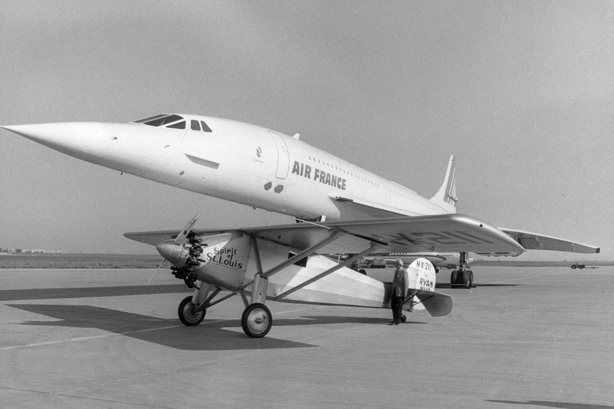 Spirit of St Louis And The Concorde Jet