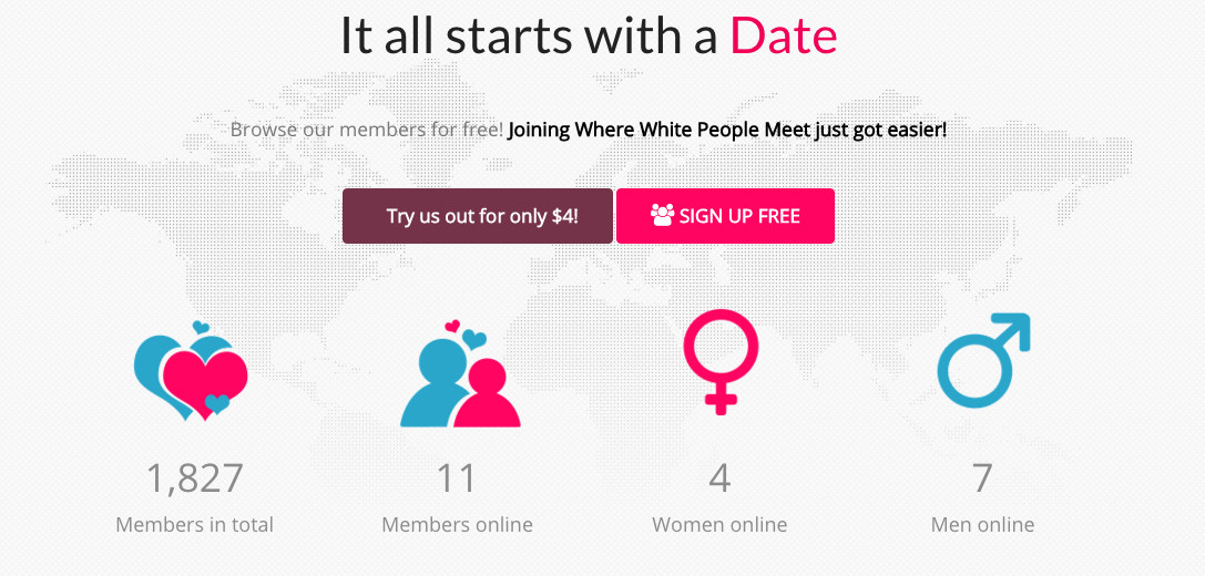 all white dating site
