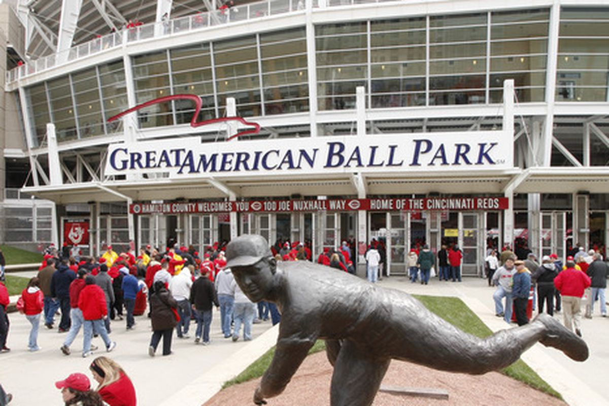 CINCINNATI, OH - MARCH 31: Fans enter the stadium prior to the opening day game between the Cincinnati Reds and the Milwaukee Brewers at Great American Ballpark on March 31, 2011 in Cincinnati, Ohio. (Photo by Joe Robbins/Getty Images)