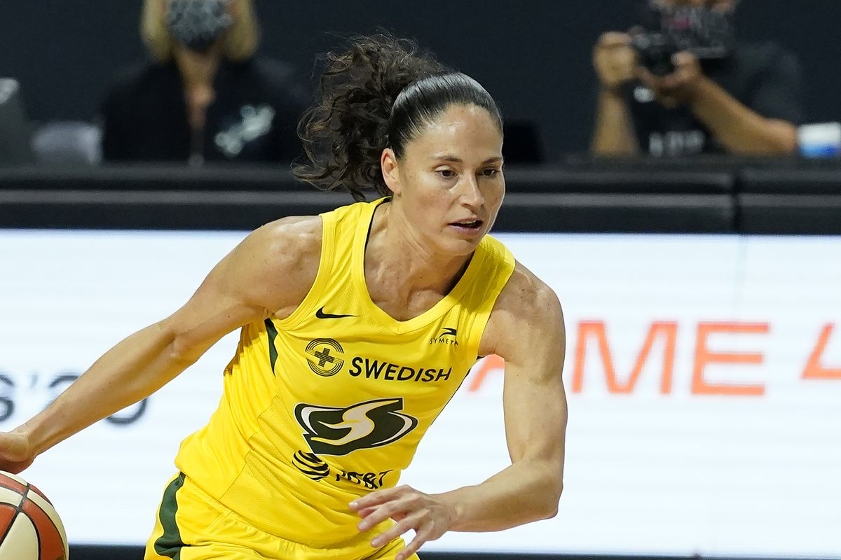 """""""To be blunt it's the demographic of who's playing,"""" Sue Bird said fan perceptions of women's soccer and basketball. """"Women's soccer players generally are cute little white girls while WNBA players, we're all shapes and sizes: a lot of Black, gay, tall women. There's maybe an intimidation factor and people are quick to judge it and put it down."""""""