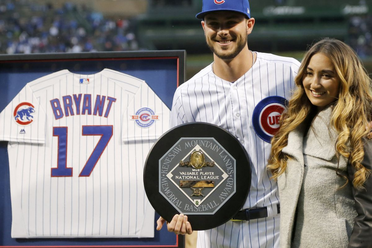 quality design 7c463 5b616 All about Kris Bryant: Wife tweets his love of Disney ...