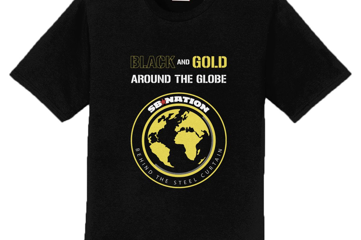 52f0af93b2b Be a part of the global Steelers fan base with the latest BTSC T-shirt