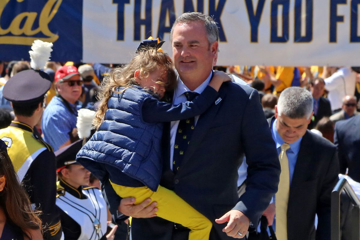 Sonny Dykes and his daughter
