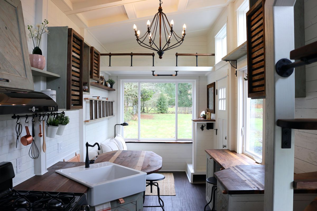 Tiny House Packs farmhouse Chic Into 240 Square Feet