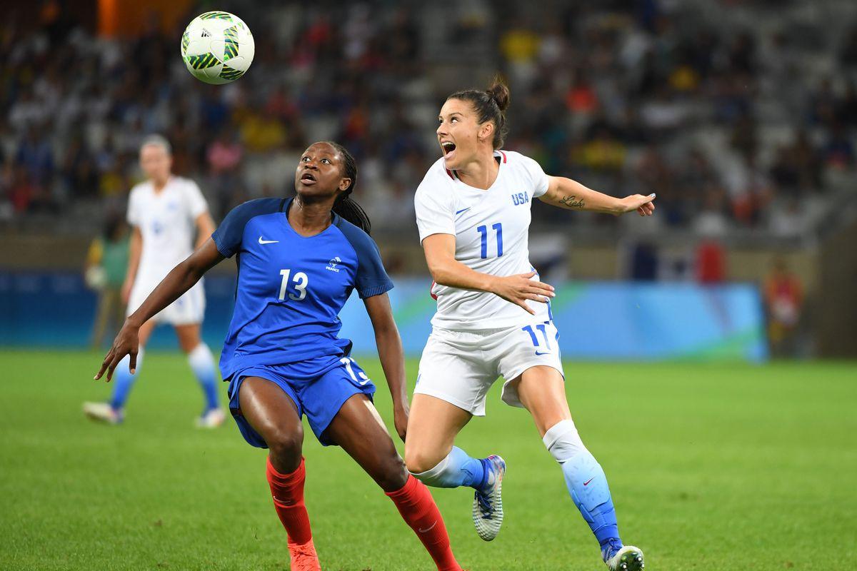 Olympics: Football-Women's Team-1st Round Group G-United States (USA) vs France (FRA)
