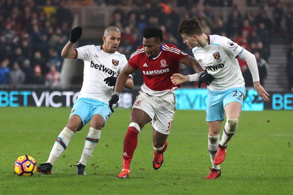 Middlesbrough v West Ham United - Premier League