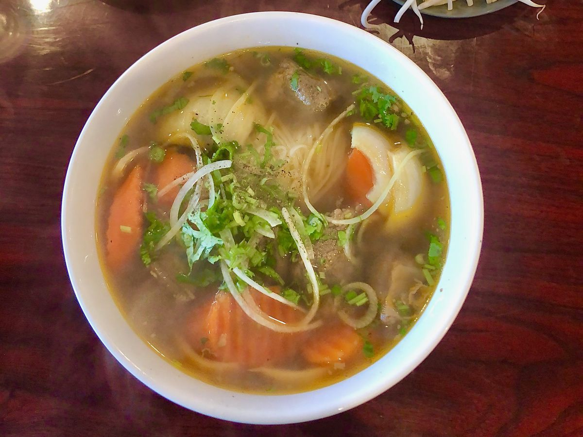 beef soup at pho t & n in nashville