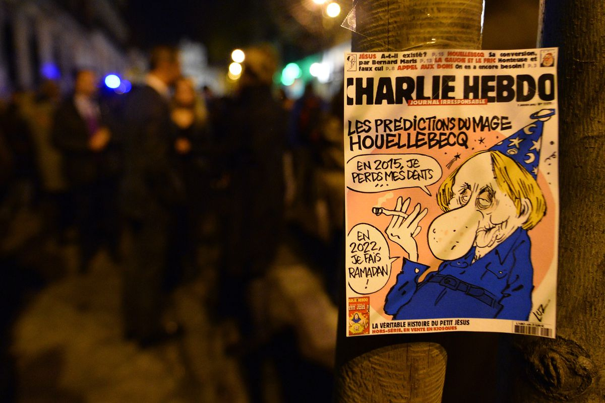 The latest issue of Charlie Hebdo.