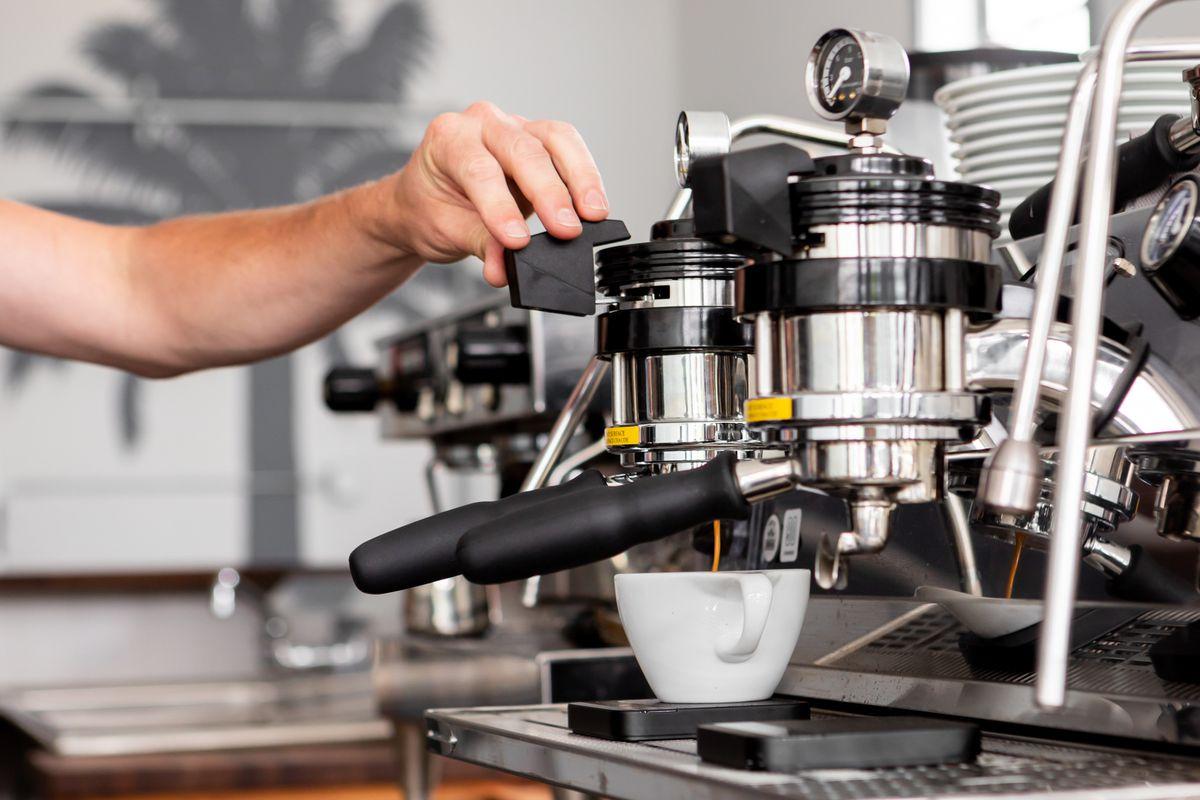 Espresso machine at Noe Cafe