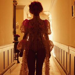 Beyoncé's stylist, Marni Senofonte, designed the dress, Tim White created it.