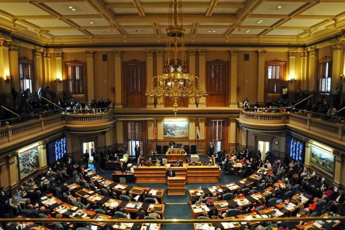 It was opening day for the legislature at the State Capitol. RJ Sangosti/ The Denver Post