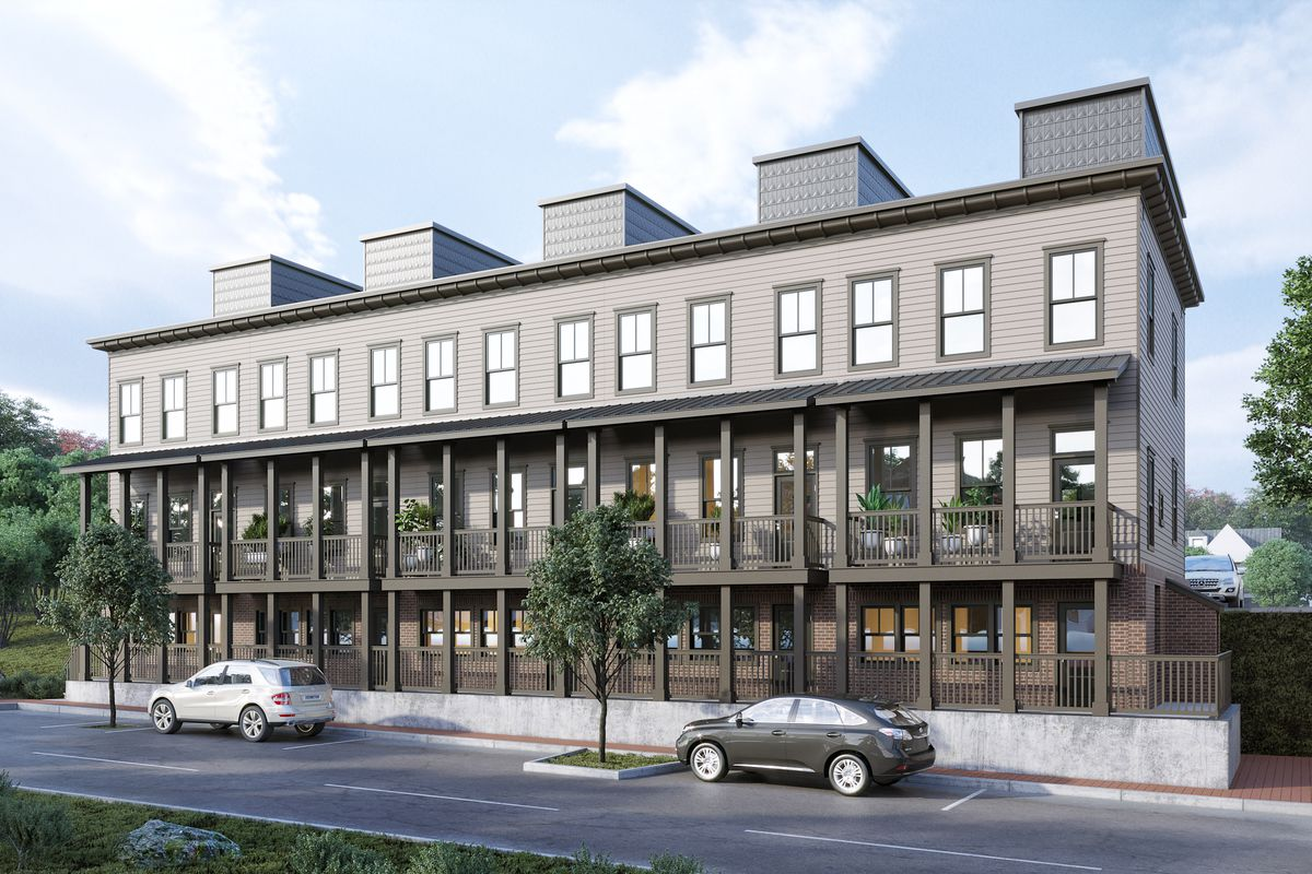 a rendering of the townhome project