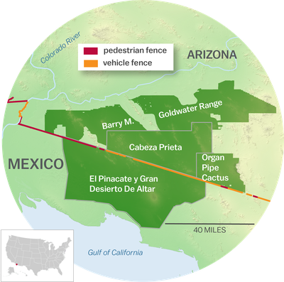 Map Of Four Widlife Refuges And Protected Areas In Arizona And New Mexico That Would Be