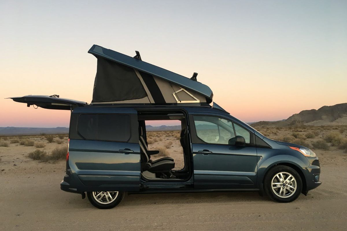 Ford Transit Connect Camper >> Camper Van Has Pop Top Roof For Extra Sleeping Space Curbed