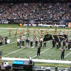 Halftime jazz band entertainment.