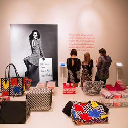 """Before leaving, don't forget to visit the gift shop featuring select items from the DVF and Andy Warhol limited-edition collection, as well as books, postcards, notepads, scarves and a touchscreen where guests can share their <a href=""""http://www.dvf.com/w"""