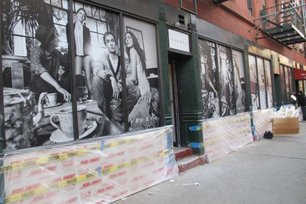 """Image via <a href=""""http://www.boweryboogie.com/2012/04/sandro-and-maje-annouce-themselves-on-prince-street/"""">Bowery Boogie</a>"""