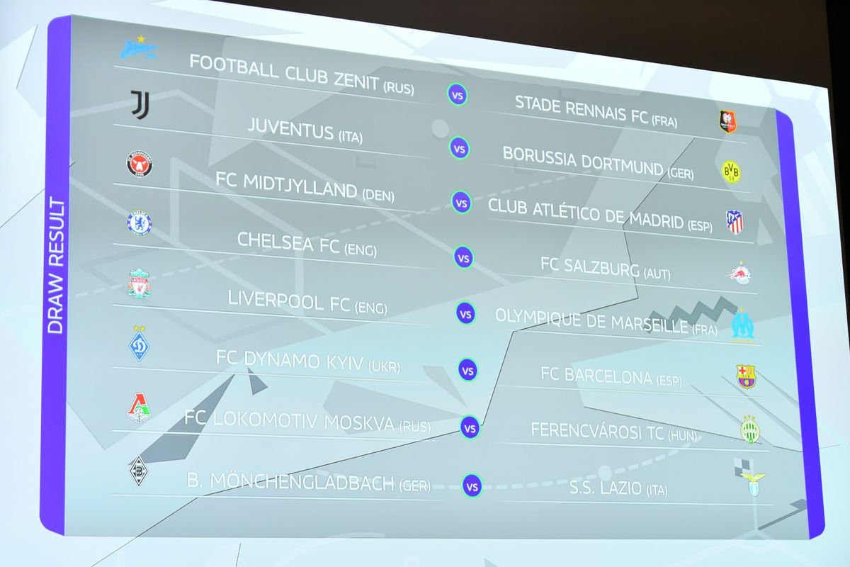 UEFA Youth League 2020/21 Round of 64 Draw