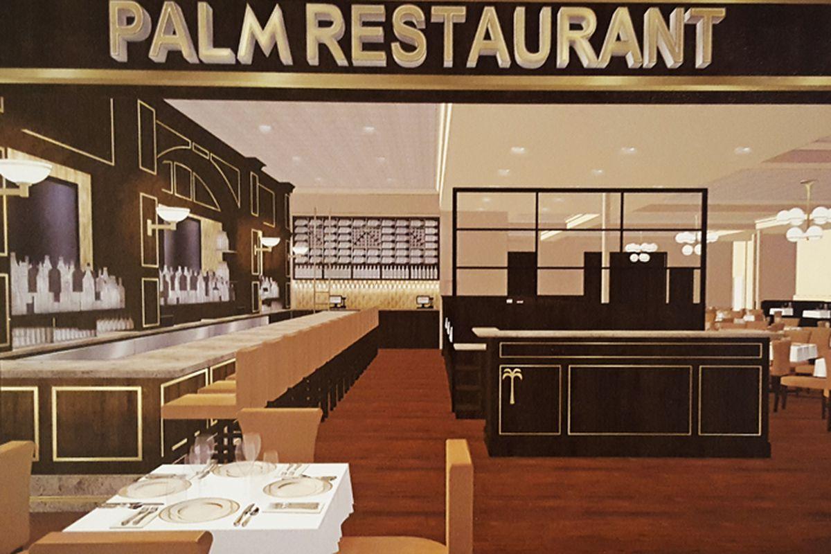 The Palm Restaurant rendering