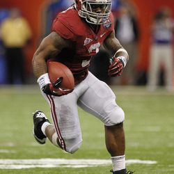 FOR USE AS DESIRED WITH NFL DRAFT STORIES - FILE - In this Jan. 9, 2012, file photo, Alabama running back Trent Richardson (3) runs against LSU  during the second half of the BCS National Championship college football game in New Orleans. Richardson is a top prospect in the upcoming NFL football draft.