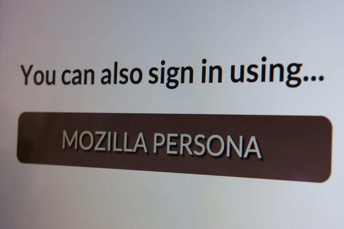 mozilla persona login