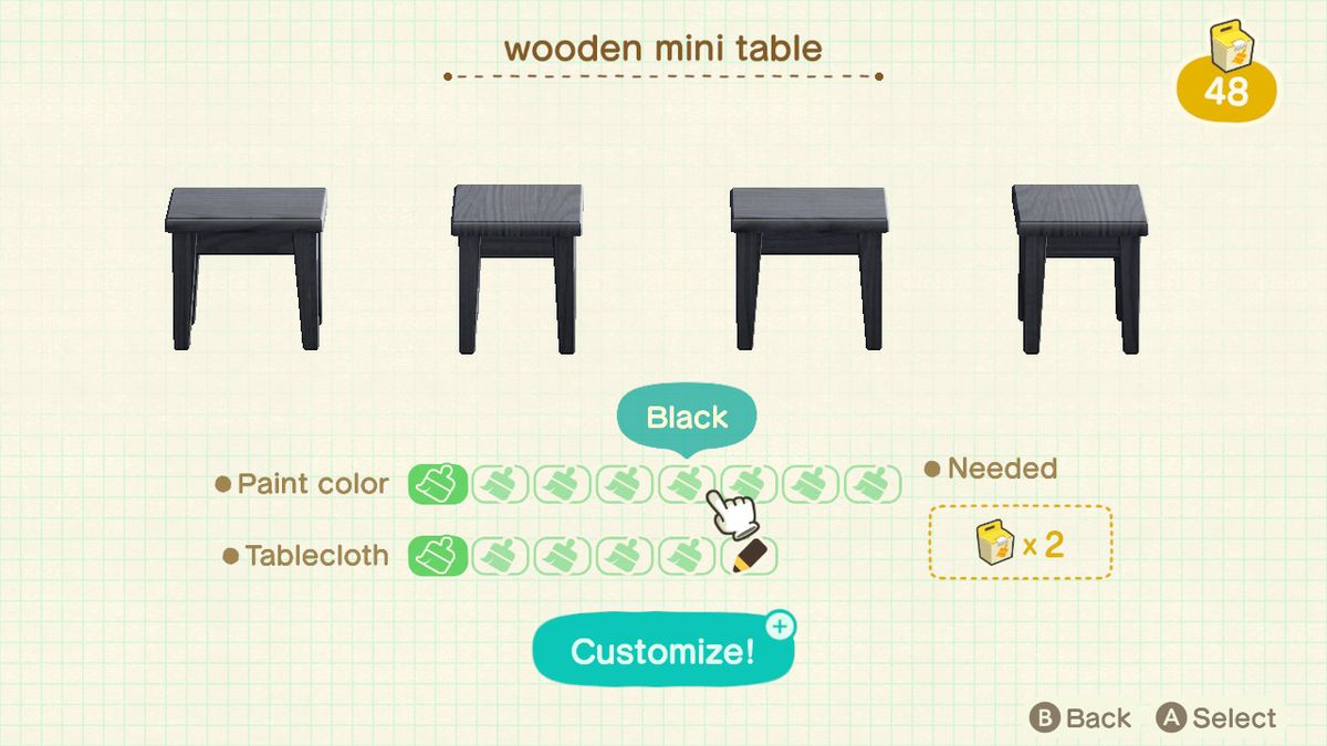 How To Customize Furniture In Animal Crossing New Horizons Switch Polygon