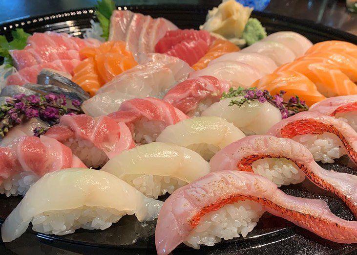 Platter of nigiri from Soichi Sushi