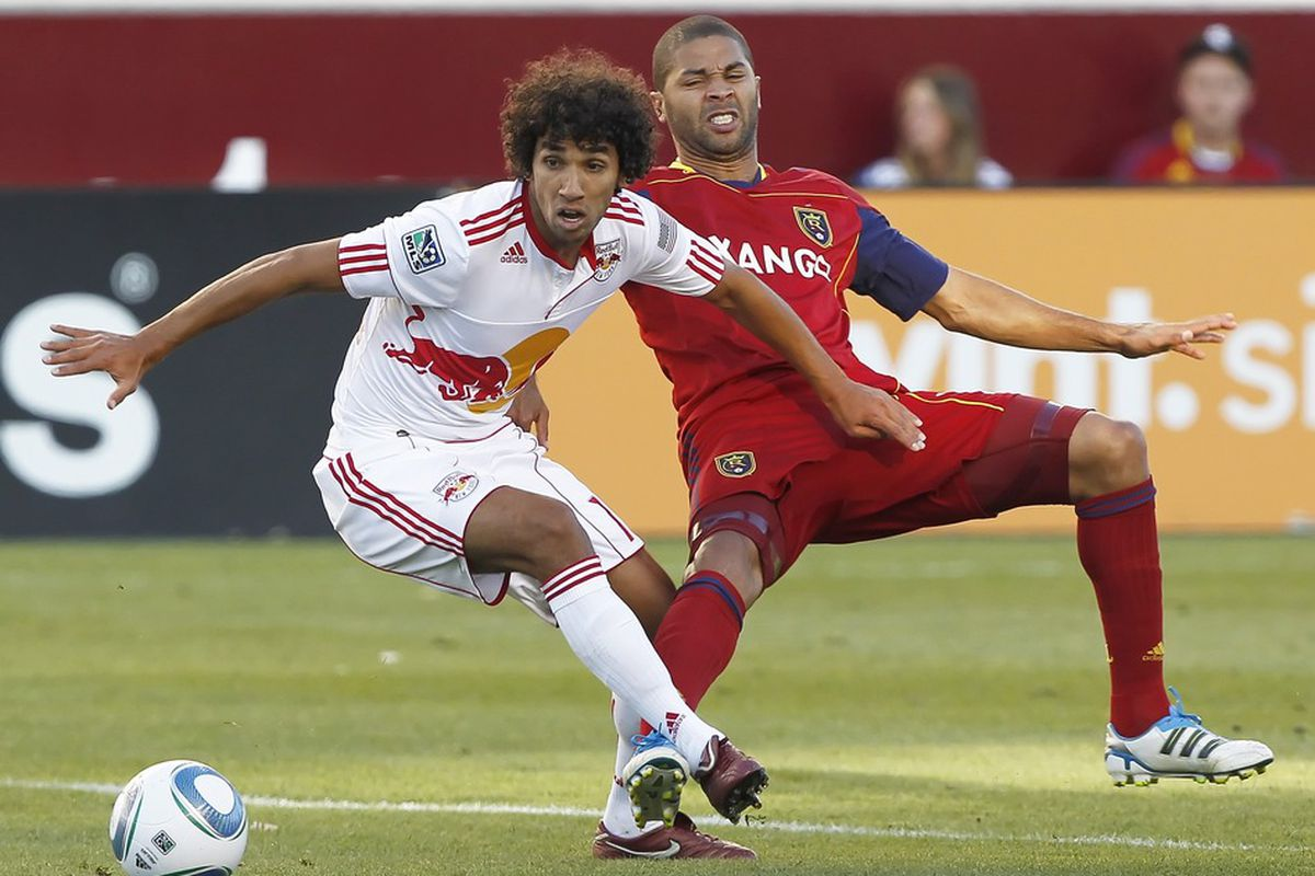 Careful New York! Real Salt Lake likes losing at home about as much as Alvaro Saborio liked Mehdi Ballouchy after the above encounter.